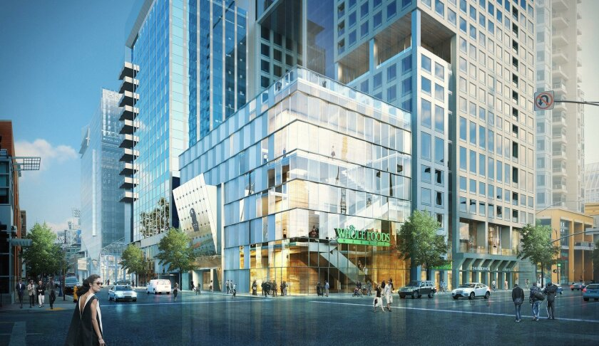 The $400 million mixed use development at 7th and Market is designed as two towers rising 19 and 39 stories, with a combiniation of apartments, condos, office space, a Ritz Carlton hotel and Whole Foods market.