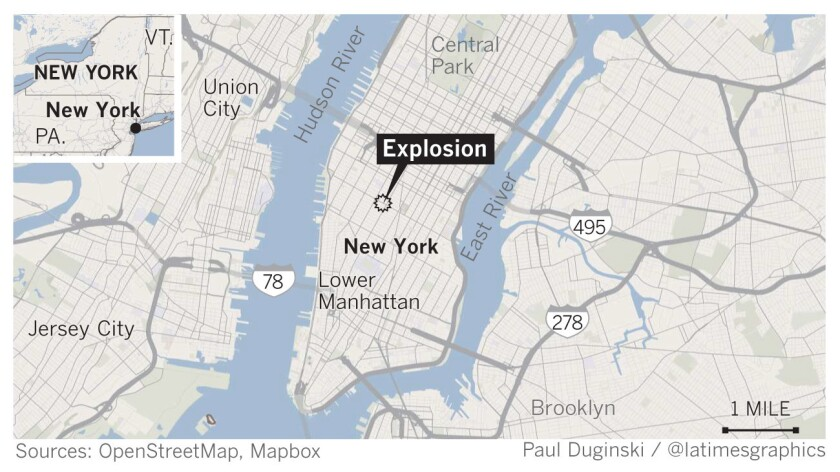 Explosion in New York