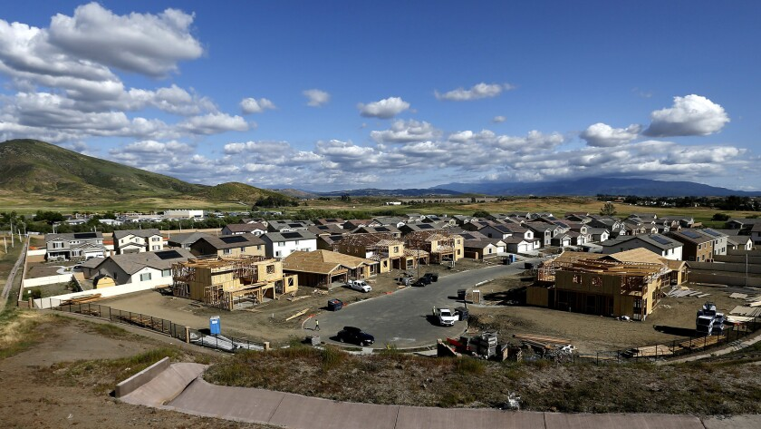 Construction is underway on the Morningstar Ranch community in Winchester, near Temecula.