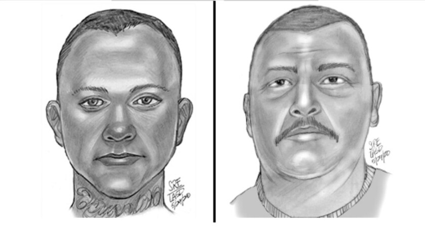 Sketch of two suspects