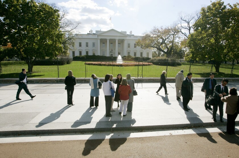 A toddler breached the White House perimeter. The child was quickly located and returned to his parents.