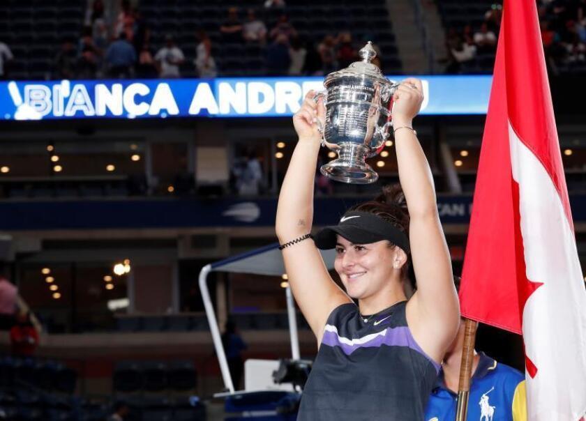 Andreescu dijo que quería ser campeona del Abierto y cumplió su sueño