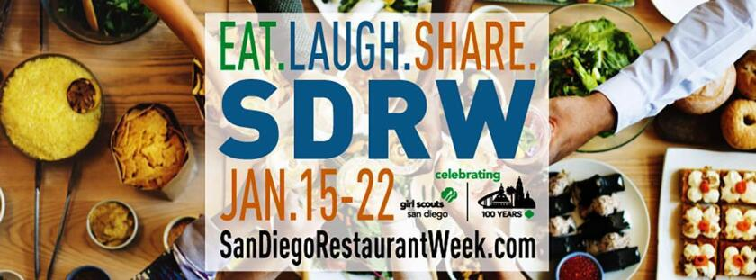 During San Diego Restaurant Week, nearly 200 participating eateries will offer specially priced, prix-fixe menus for lunch and dinner.