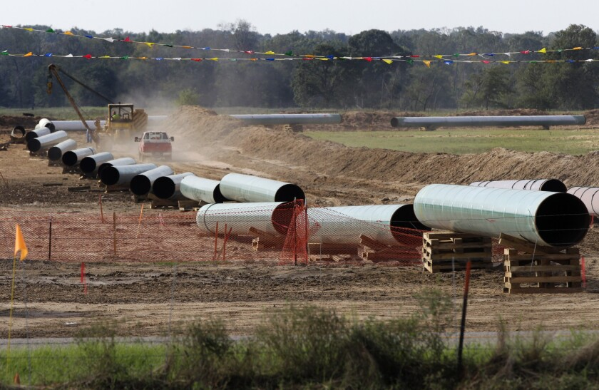 TransCanada says it already is moving some oil through the Gulf Coast portion of its proposed Keystone XL pipeline, from Cushing, Okla., to Houston-area refineries.