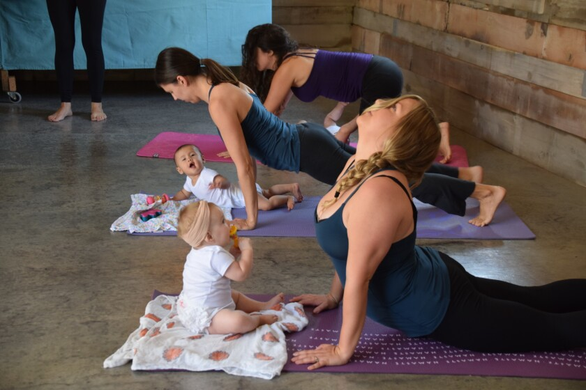 Seed & Song mom and baby yoga classes will be offered free at the Rancho Santa Fe Library.