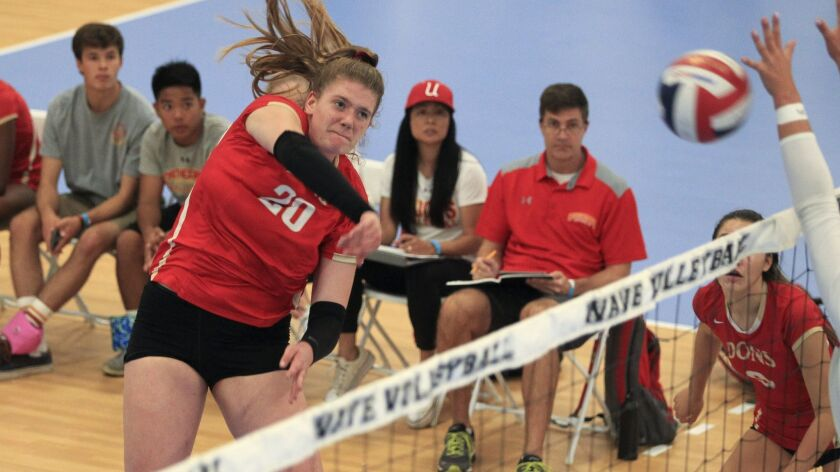 Cathedral Catholic's Maddie Endsley (shown in an earlier tournament) was named MVP of the SoCal Invitational.