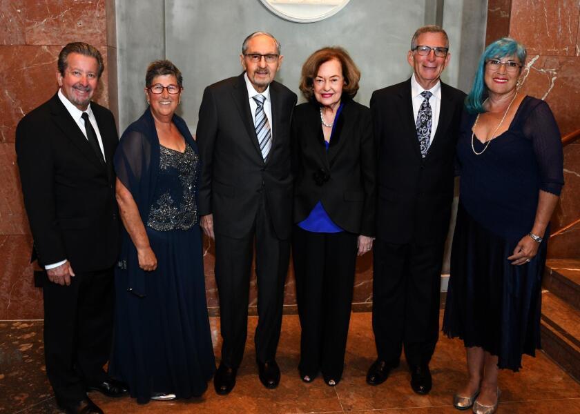 Honorees Louis and Tammy Vener, Mathew and Barbara Loonin, Edward and Pamela Carnot