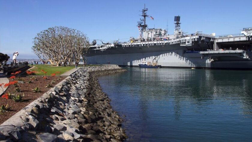 The USS Midway Museum in San Diego Bay.