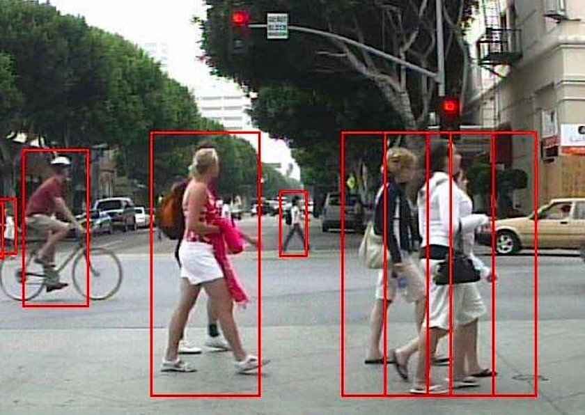 UC San Diego's pedestrian detection software uses cameras to spot people.