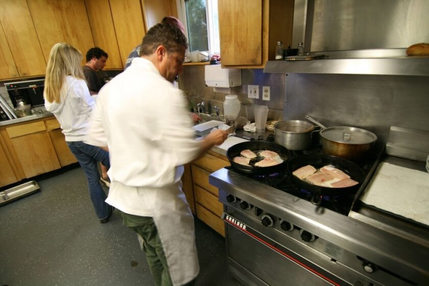 Taking The Heat In The Firehouse Kitchen The San Diego Union Tribune