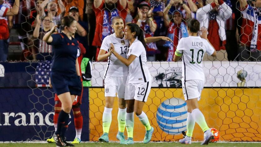 U S  women's soccer team to meet Brazil, Japan and Australia