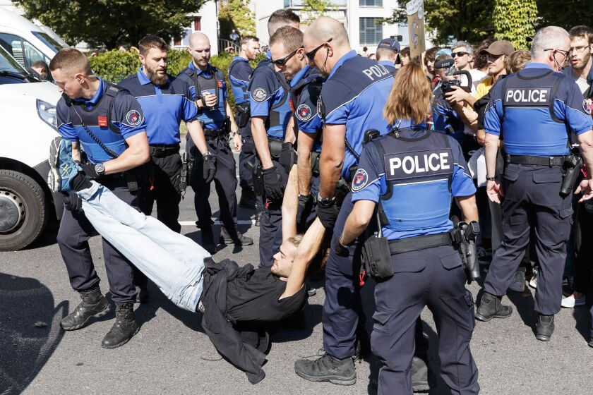 Climate protester arrested in Switzerland