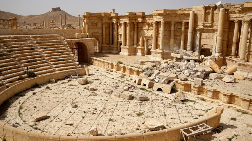 Several sites in Palmyra were heavily damaged by Islamic State militants, including the Temple of Be