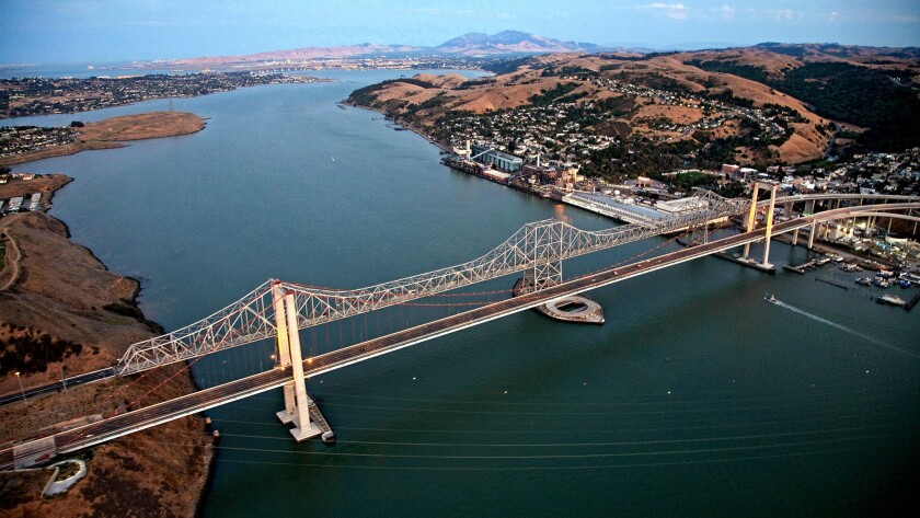 The Carquinez Bridge linking the Northern California cities of Vallejo and Crockett is an awfully long way to travel just to commit a wanton act of toll evasion.