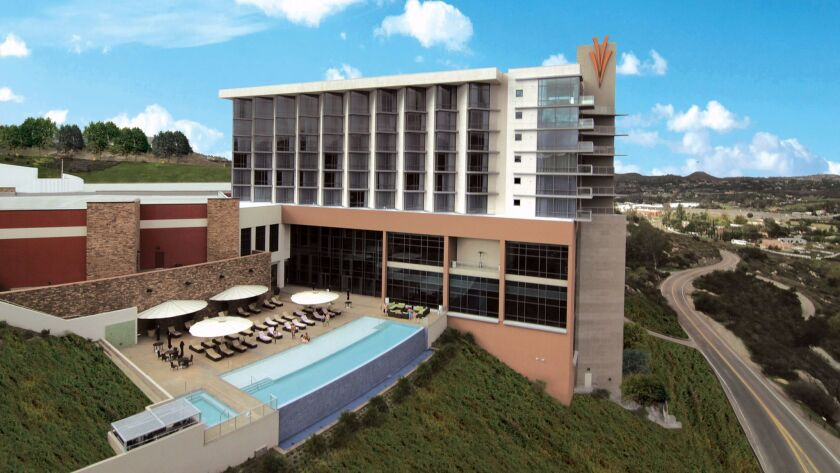 Valley View Casino & Hotel, a modest-sized casino resort, is undergoing a $50 million expansion -- modest by San Diego region standards.