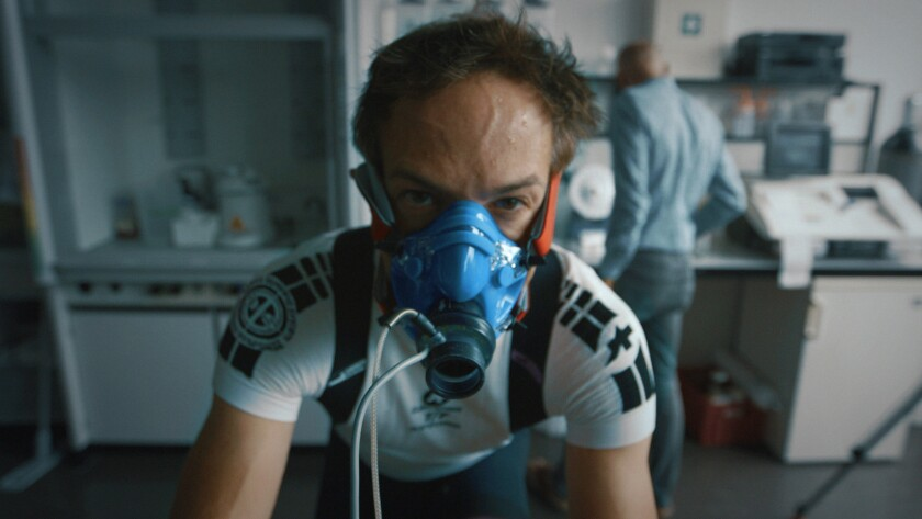 """Bryan Fogel in a scene from """"ICARUS,"""" Credit: Netflix"""