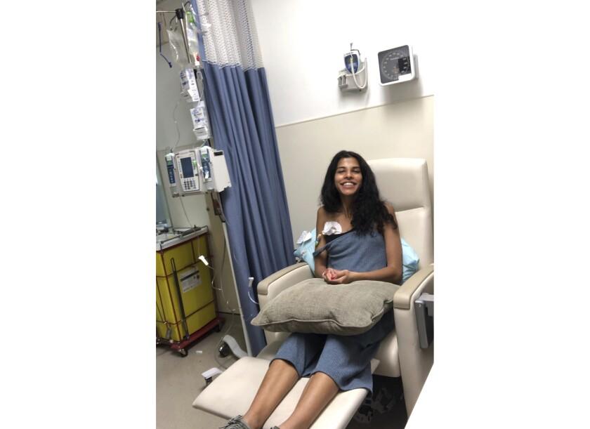 Roshni Kamta undergoing cancer treatment