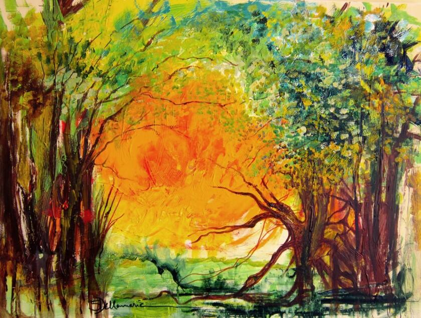 Sharon Dellamarie painting