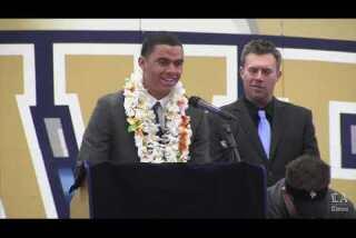 Mykal Tolliver gives emotional speech