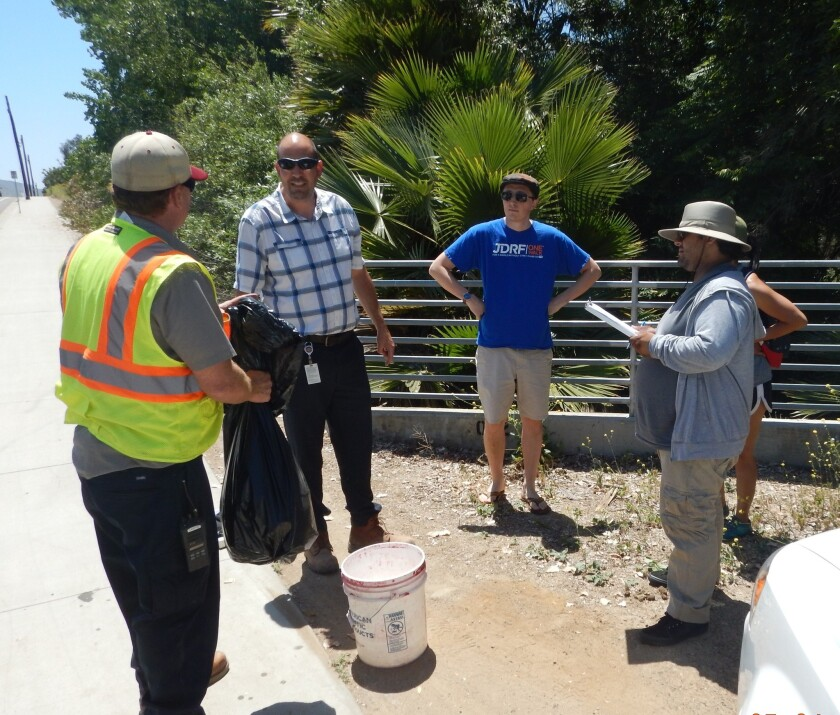 CSUSM students team up with city Stormwater staff to understand the impact of trash in the community