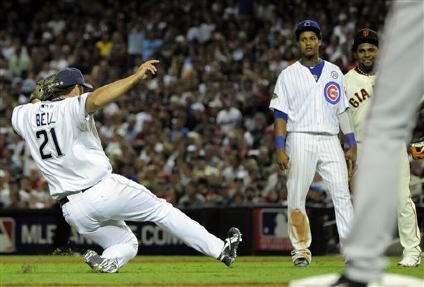 2011: Heath Bell slides into mound