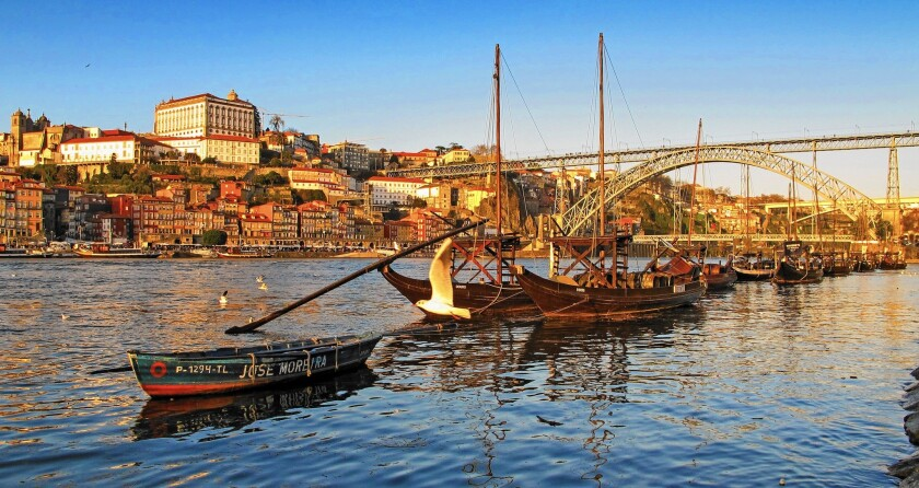 The Douro River isn't the only thing that flows in Porto, Portugal -- here you'll find lots of port wine to sip while admiring the architecture.
