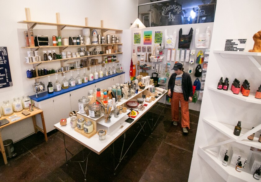 The refill station and other products for sale at Otherwild Goods & Services.