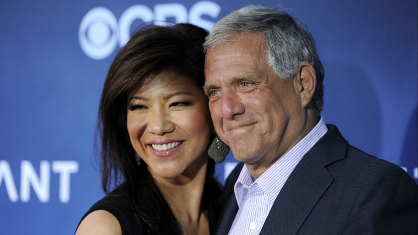 Julie Chen, left, and Les Moonves.