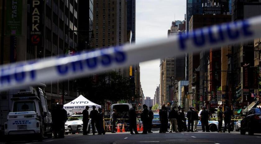 La ciudad de Nueva York tuvo por primera vez en veinticinco años un fin de semana sin que se registraran tiroteos, según datos de la policía revelados hoy. EFE/ARCHIVO