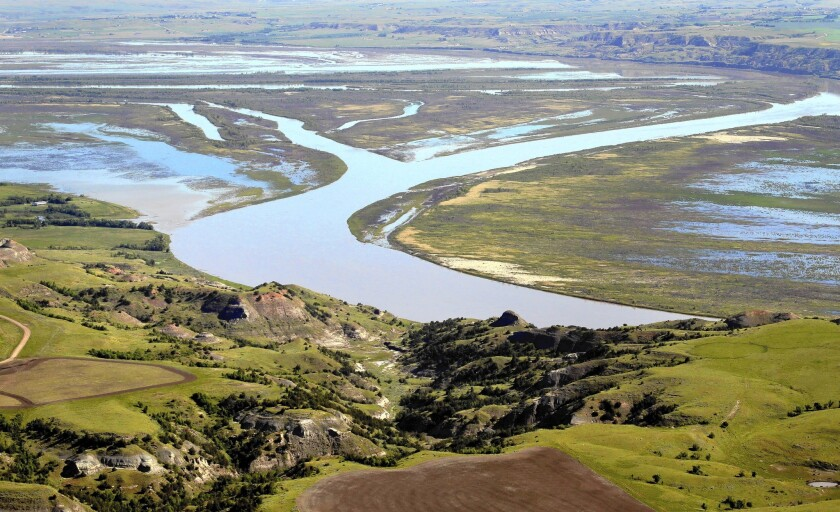 The Missouri River near Williston, N.D. The river's streamflow has changed significantly over the last 50 years.