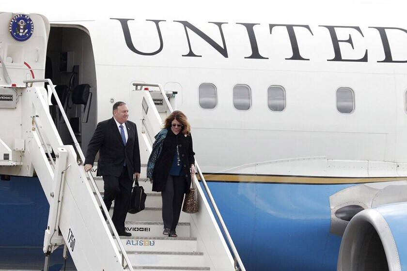 U.S. Secretary of State Michael R. Pompeo and his wife, Susan, arrive Oct. 1 in Rome.