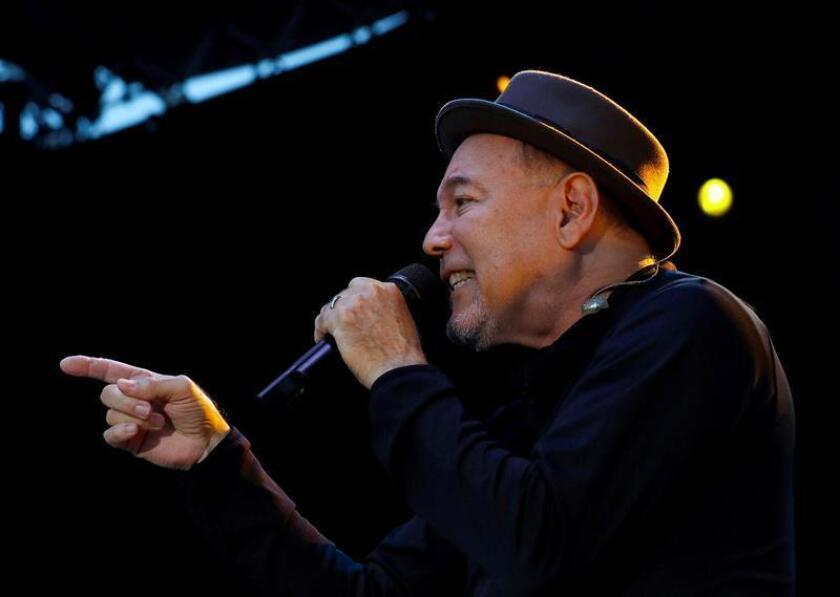 El cantante panameño Rubén Blades durante su actuación en la jornada inaugural del 53 Festival de Jazz de San Sebastián. EFE/Archivo