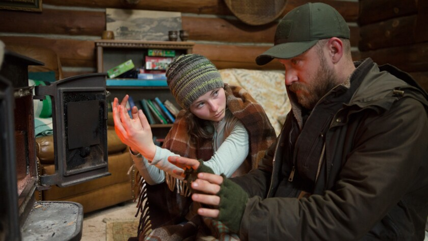 """Thomasin Harcourt McKenzie and Ben Foster in the movie """"Leave No Trace."""""""