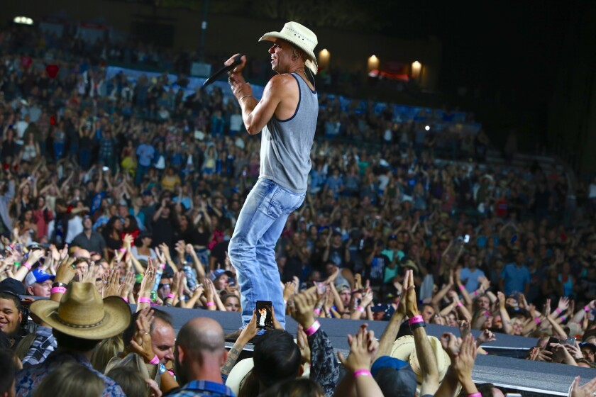 Kenny Chesney performs on June 21, 2018 at Mattress Firm Amphitheatre in Chula Vista. Old Dominion opened the show.