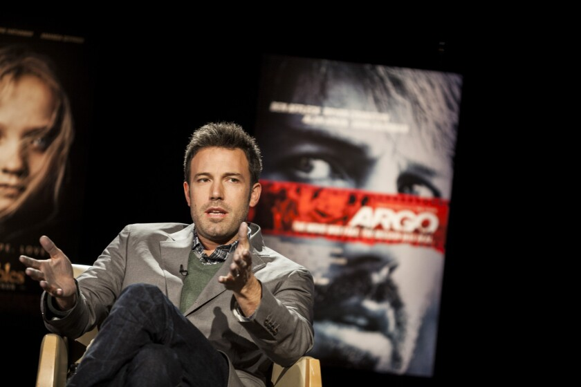"""Ben Affleck, who directed and starred in best picture winner """"Argo,"""" speaks during The Times' Directors Round Table in December 2012."""