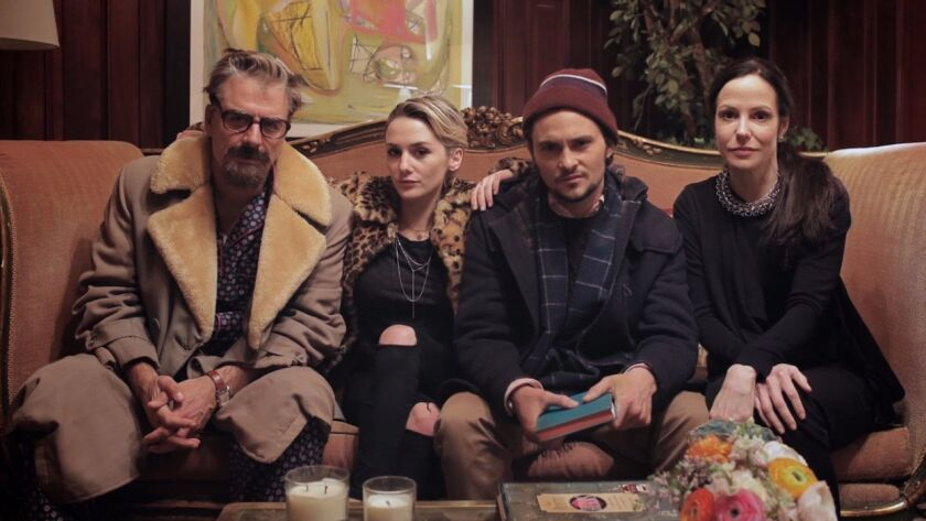 Chris Noth as Christopher, Addison Timlin as Layla, Shiloh Fernandez as Fenton and Mary-Louise Parke