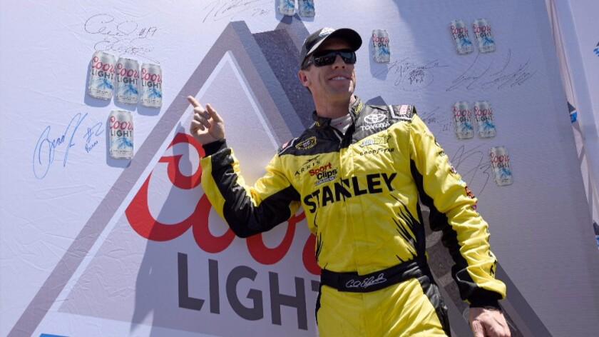 Carl Edwards takes the pole for NASCAR's Save Mart 350 race at Sonoma