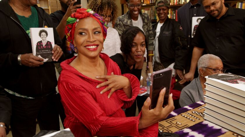 "LOS ANGELES, CA., NOVEMBER 20, 2017--Actress Jenifer Lewis just wrote her memoir ""The Mother of Blac"
