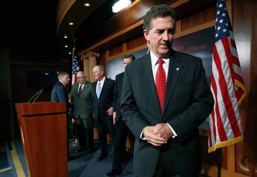 Sen. Jim DeMint (R-S.C.), a tea party favorite, is leaving Congress next month to lead the conservative Heritage Foundation.