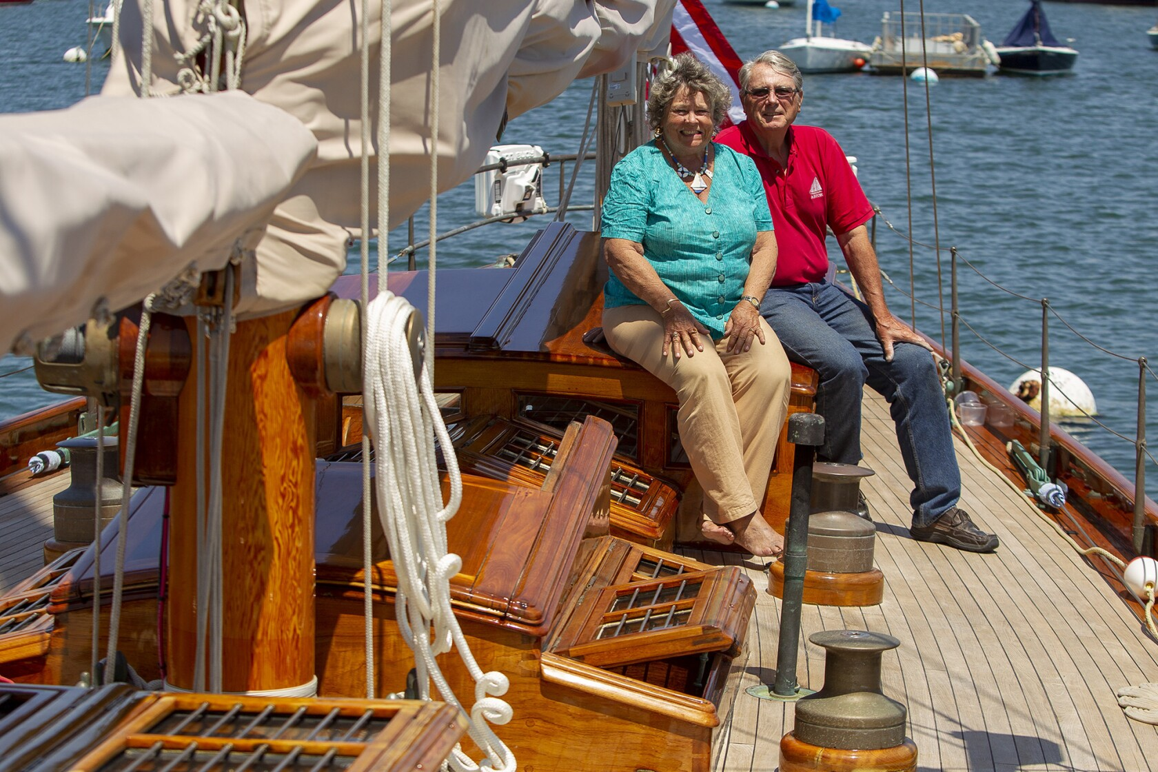 Teak performance: Newport Beach Wooden Boat Festival cruises ...