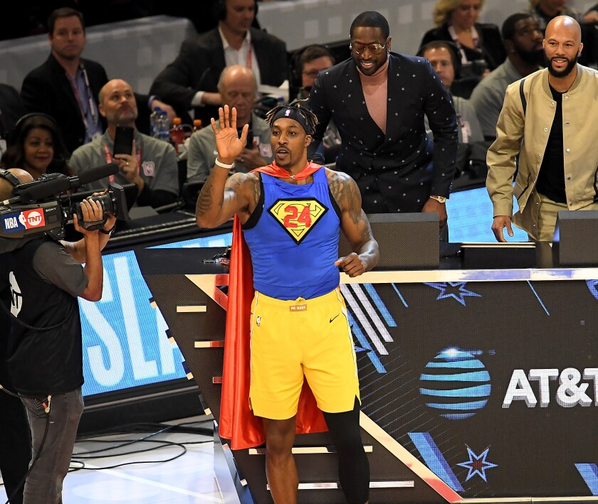 Dwight Howard wears No. 24 during the Slam Dunk Contest on Saturday.