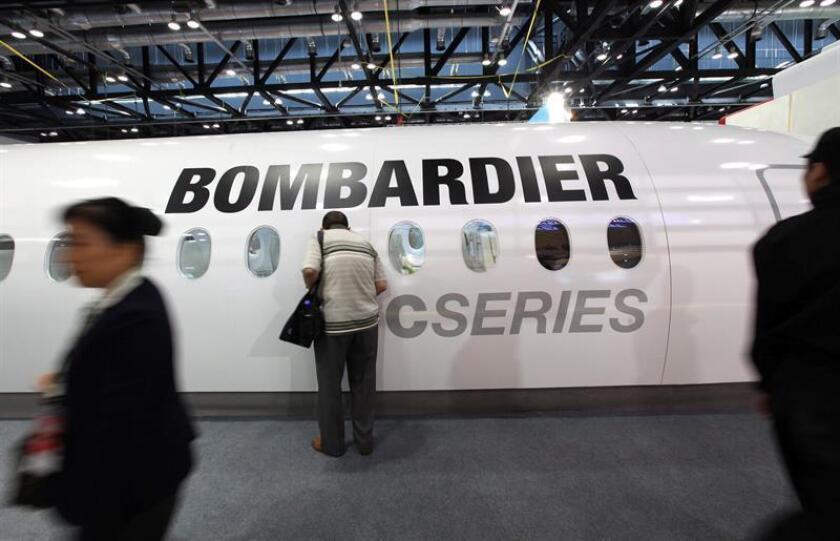 Bombardier, el fabricante canadiense de material ferroviario y aeronáutico, obtuvo en los nueve primeros meses del año unos beneficios netos de 263 millones de dólares y eliminará 5.000 puestos de trabajo en todo el mundo, anunció hoy la empresa. EFE/Archivo