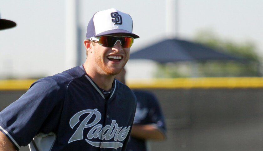 Infielder Cory Spangenberg, pictured here in spring training, is expected to be among the September call-ups for the Padres on Monday.