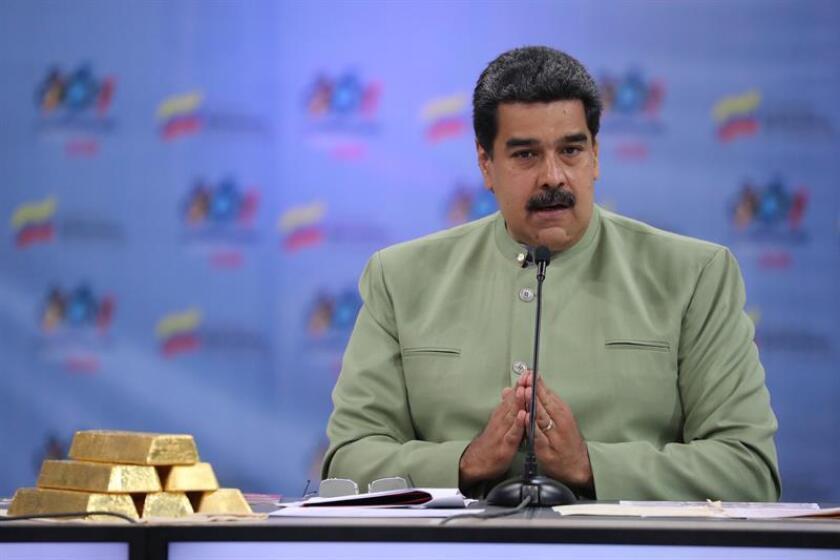 El presidente de Venezuela, Nicolás Maduro, habla durante un acto de gobierno en El Poliedro de Caracas (Venezuela). EFE/Archivo