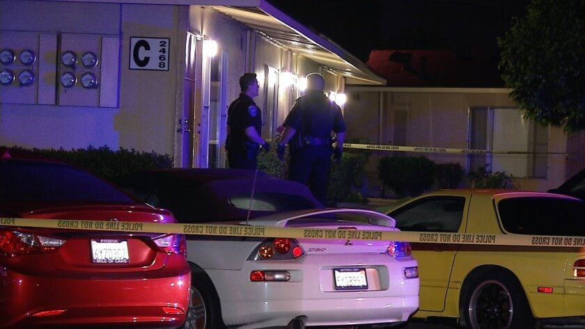 Police were called to this home in Chula Vista where they found a naked woman suffering from a stab wound to the chest.