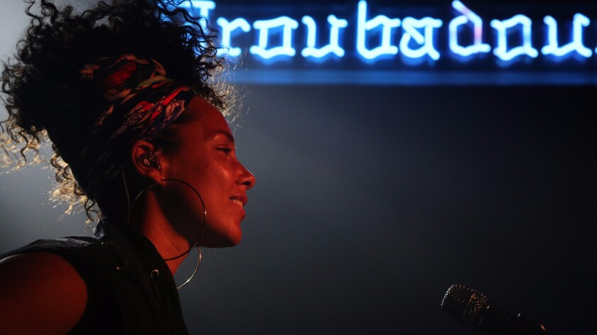 Alicia Keys previewed her new album at an intimate show at the Troubadour in West Hollywood on July 20, 2016.
