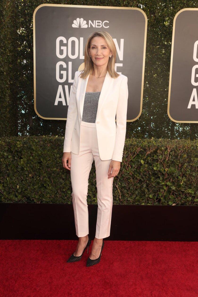 Helen Hoehne on the Golden Globes red carpet
