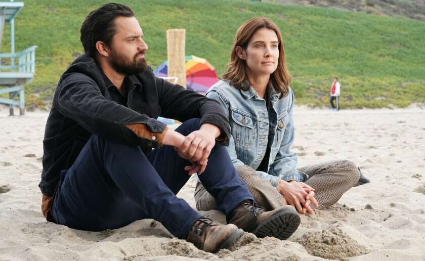 """Grey and Dex (Jake Johnson and Cobie Smulders) are in Los Angeles in a new episode of """"Stumptown"""" on ABC."""