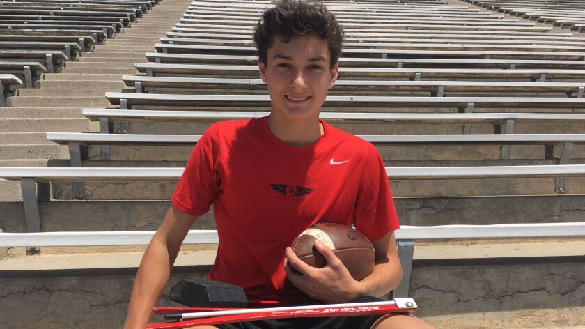 Bishop Diego's Jack Luckhurst is a kicker off the old block