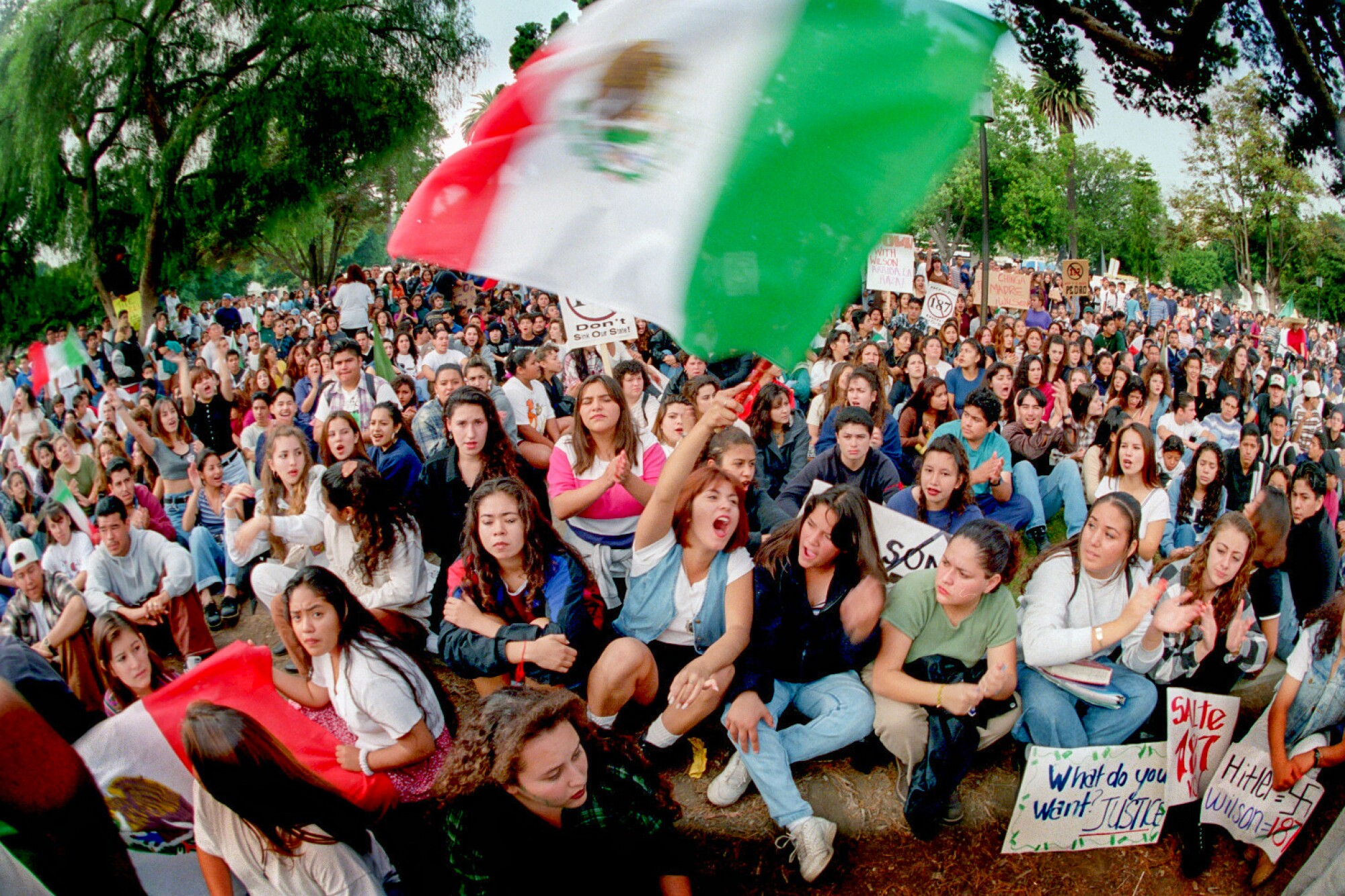 1994 protest at Plaza Park in Oxnard